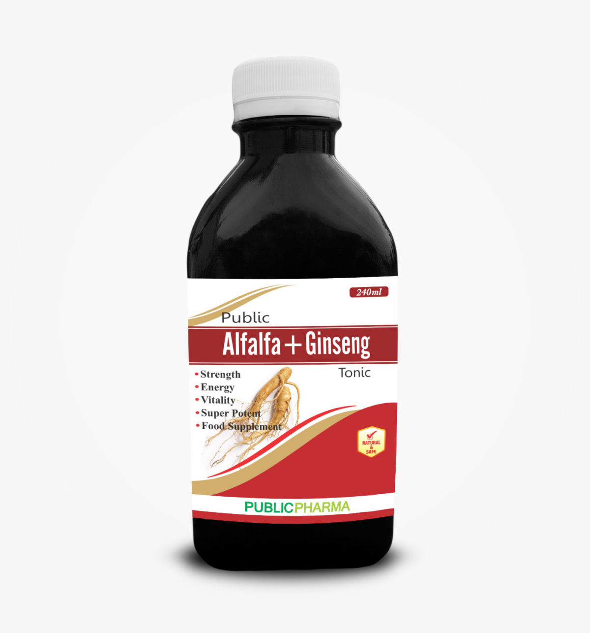 Alfalfa + Ginseng combination is an excellent tonic, Helpful for physical and mental exhaustion, anxiety due to overwork, Recommended for subside anaemia, loss of appetite, convalescence especially after debilitating feners,pregnancy surgical operations and loss of weight.